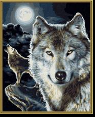 Malen nach Zahlen - Wölfe