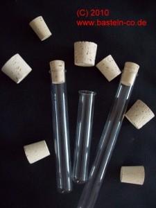Reagenzglas mit Korken - 20 cm - mit Rand
