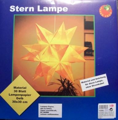 Lampenpapier Stern-Lampe 45cm - gelb