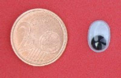 Wackelaugen 10mm oval