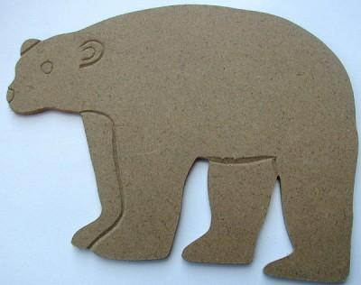 Holzornament Eisbär