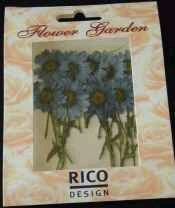 Mageritenblumenblüten klein, blau