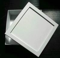 Pappbox Quadrat, weiß mit Vertiefung
