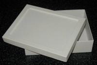 Pappbox  Rechteck, weiß mit Vertiefung
