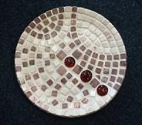 Mosaik-Set Glasschale mit echtem Marmor