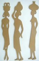 Holzornament Drei Afrikanerinnen