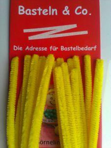 Pfeifenputzer gelb