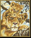 Malen nach Zahlen - Löwenmutter
