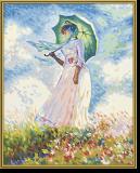 """Malen nach Zahlen - """"Frau mit Sonnenschirm"""" nach Claude Monet"""