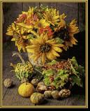 Malen nach Zahlen - Buntes Herbststillleben