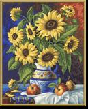 Malen nach Zahlen - Stillleben mit Sonnenblumen