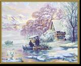 Malen nach Zahlen - Winter am Bergsee