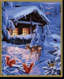 Malen nach Zahlen - Romantische Winternacht