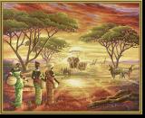 Malen nach Zahlen - Malerisches Afrika