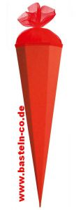 Schultüte 85cm (sechseckig) rot