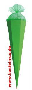 Schultüte 85cm (sechseckig) grün