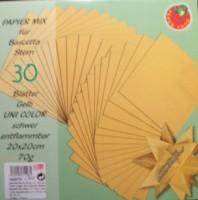 Papiermix für Bascetta Stern - Gelb