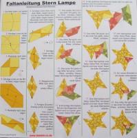 Faltanleitung für Bascetta Sterne