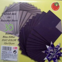 Papiermix für Bascetta Stern - Blau-Silber