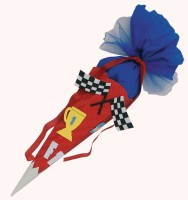 Schultüte Bastelset - Formel 1 - Geschwistertüte