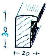 Bilderrahmen-Leistensatz -   40x40 cm