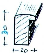Bilderrahmen-Leistensatz -  18x24 cm