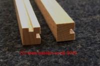 Zaunpfeiler  Eckleiste 11 x 11 mm , 250 mm lang, 2 Nut