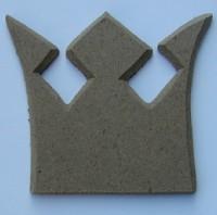 Holzornament Krone mit Spitzzacke
